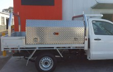 Hilux with Tool Boxes and Tray