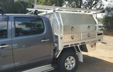 Hilux with Tool Boxes