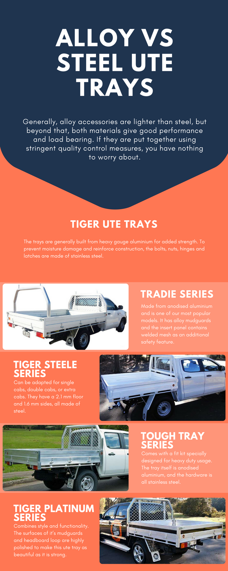 Alloy Vs Steel Ute Trays