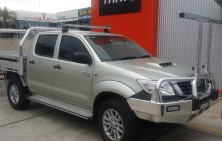 Hilux Dual Cab with Tray and Conduit Rack