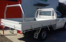 Hilux Single Cab with Tray and Ladderack