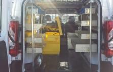 Van Shelving with Job Site Box